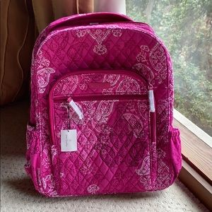 New Vera Bradley pink backpack quilted